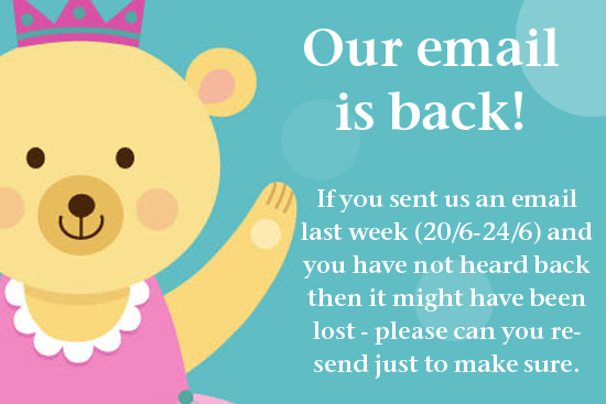 Our Email is Back!