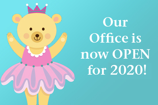 Office is OPEN for 2019