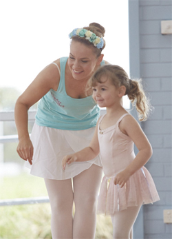 Kinderballerina and Teacher